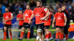Sean Reidy at full-time after Ulster's Champions Cup defeat to Leinster at the Aviva Stadium in Dublin (Michael Steele/Getty Images)