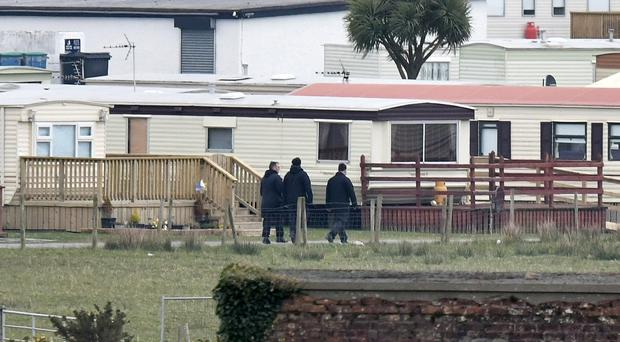Police search Ballyhalbert Caravan Park on Monday for Lisa Dorrian. Photo Colm Lenaghan/Pacemaker Press