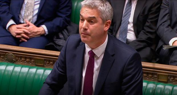 Brexit Secretary Stephen Barclay speaking in the House of Commons. Photo credit: House of Commons/PA Wire