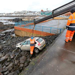 The March 5 incident in which a car was driven onto rocks at Portstewart