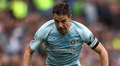 United front: Cesar Azpilicueta is worried by Chelsea supporters venting their frustration at manager Maurizio Sarri