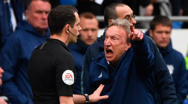 Lashing out: Neil Warnock lets his feelings known on sideline