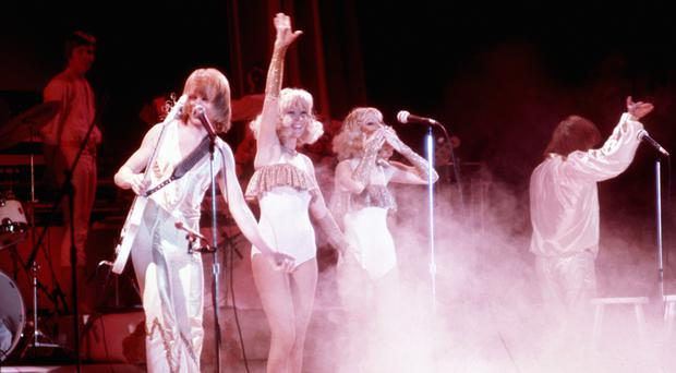 Abba wish their fans goodnight after performing in Sweden (Archive/PA)