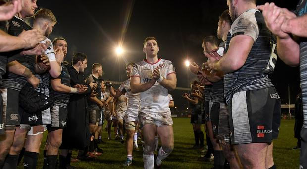 Darren Cave has been lauded for his Ulster performances and commitment to the province after announcing his retirement.