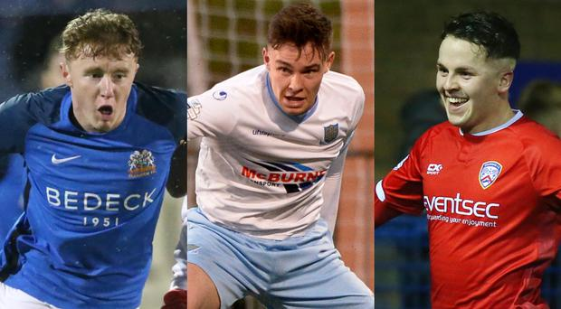 Glenavon's Caolan Marron, Ballymena's Kofi Balmer and Coleraine's Ben Doherty have all been nominated for thew Ulster Young Footballer of the Year award