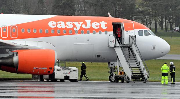 The scene at Belfast International Airport. Credit: Justin Kernoghan/Photopress
