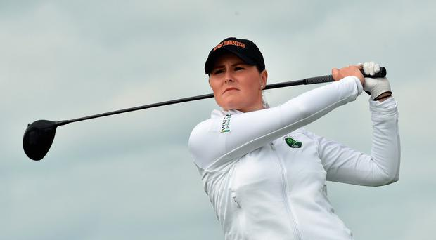 Driven: Olivia Mehaffey is impressing at the Augusta National Women's Amateur Championship