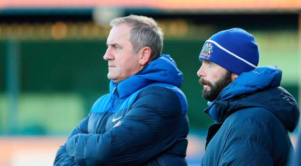 Top team: Paul Millar (left) with Glenavon boss Gary Hamilton