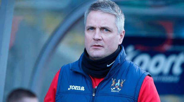 Relegation battle: Colin Nixon was sacked by Ards in February