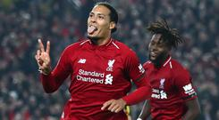 Big impact: Virgil van Dijk has made his mark on and off the field at Liverpool