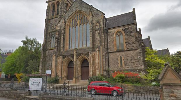 The burglary happened at Fisherwick Presbyterian Church in south Belfast. Credit: Google Maps
