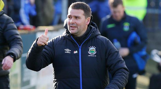Finish job: David Healy wants to win the Gibson Cup as soon as possible and has targeted victory at the Showgrounds