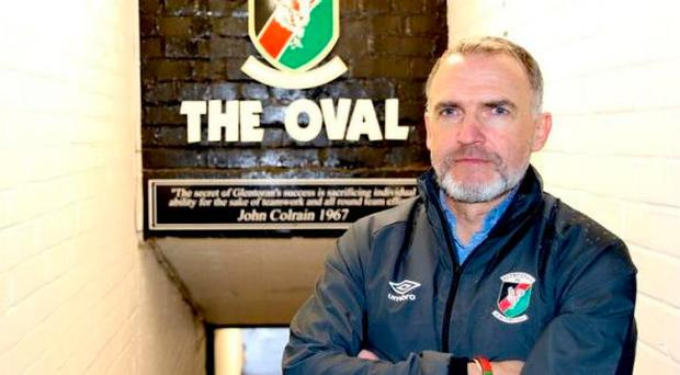 Glentoran boss Mick McDermott.
