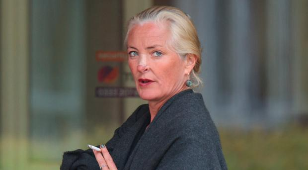 Simone Burns outside Isleworth Crown Court in London