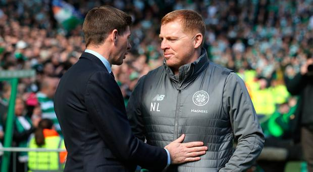 Celtic manager Neil Lennon (right) has hit out at his opposite number Stephen Gerrard.