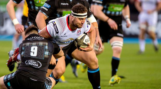Crunch time: Ulster's Rob Herring tries to escape Ali Price