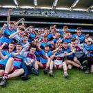 St. Michael's College celebrate their first ever Hogan Cup victory at Croke Park.