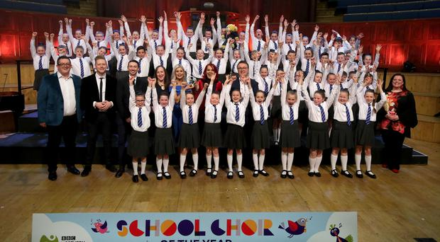 Ebrington Primary School, Londonderry, winners of the junior section of BBC Northern Ireland School Choir Of The Year. Photo by William Cherry/Presseye