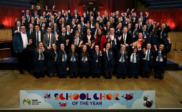 Thornhill College, Derry, winners of the senior section of BBC Northern Ireland School Choir Of The Year. Photo by William Cherry/Presseye