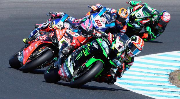 Runner-up: Jonathan Rea had three second places in Spain for the third successive meeting