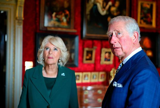 Prince Charles, Prince of Wales and Camilla, Duchess of Cornwall attend the reopening of Hillsborough Castle on April 09, 2019 in Belfast, Northern Ireland. (Photo by Chris Jackson-WPA Pool/Getty Images)