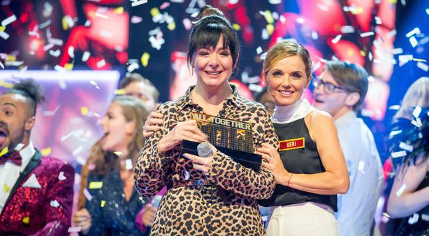 Winner Shellyann Evans with head judge Geri Horner (All Together Now)