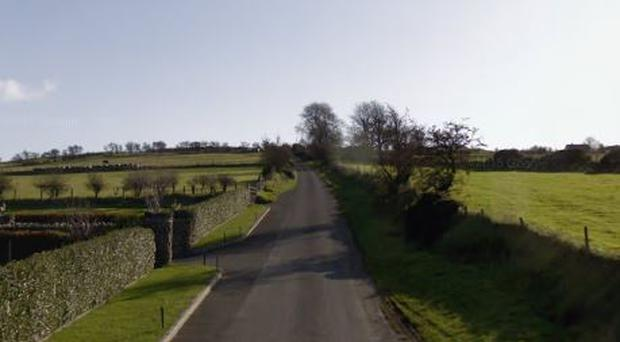 The crash happened on Dree Hill in Dromara on Sunday afternoon. Credit: Google Maps