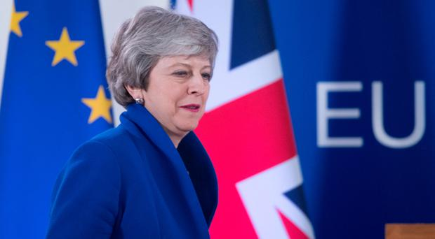 Prime Minister Theresa May holds a Press conference in Brussels last week