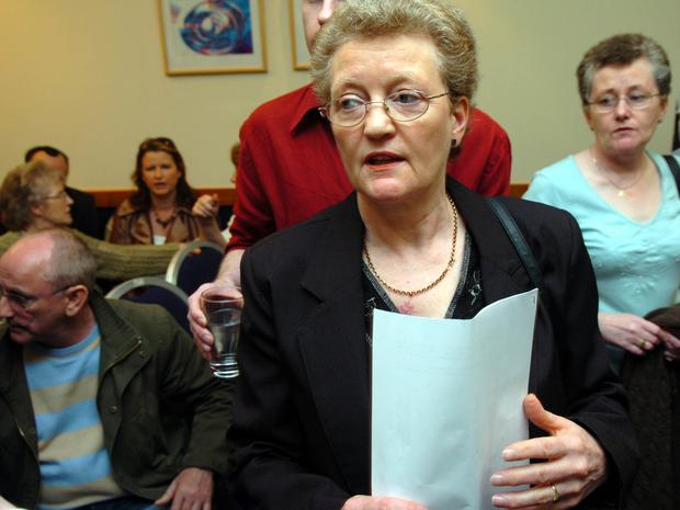 Helen Whitters mother of Paul Whitters who died in April 1981 after being shot by a plastic bullet pictured at the press conference given by Nuala O'Loan the Police Ombudsman in Londonderry in 2007. Picture Martin McKeown. 16.4.07