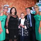 Receiving the award for Caring Spirit on behalf of her and her husband Alistair, is Pearl Brown from Warrenpoint. Photo by Kelvin Boyes / Press Eye