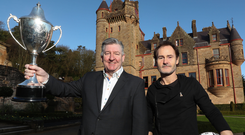 Nurturing talent: Former Manchester United forward Norman Whiteside with Alan Clarke, CEO of STATSports