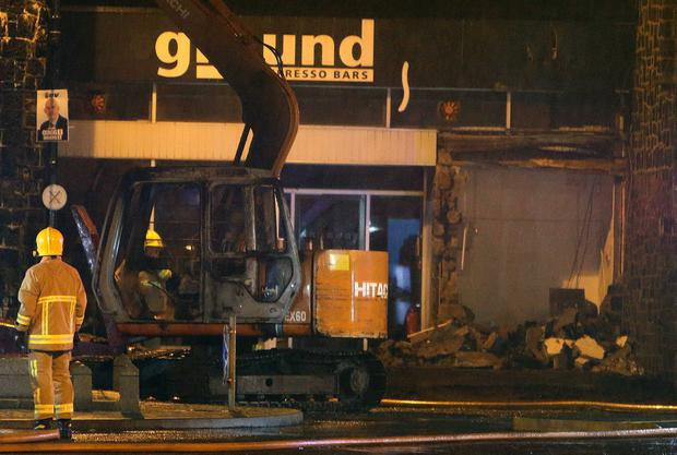 ATM ripped from the wall of a building in the town centre of Bushmills. Pic Steven McAuley/McAuley Multimedia
