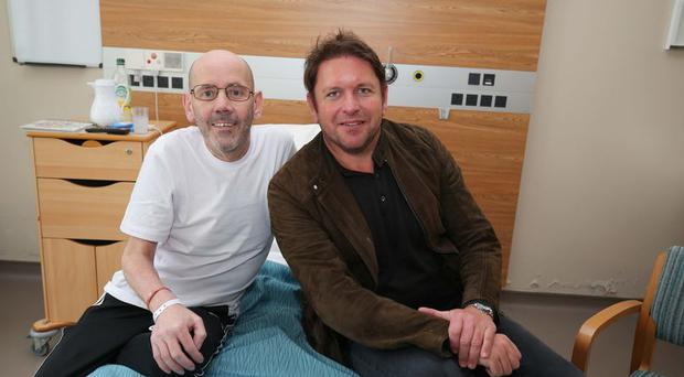 Patient Martin Bell and James Martin