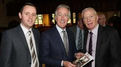 Foyle MLA Gary Middleton, Congressman Richard Neal and East Londonderry MP Gregory Campbell.