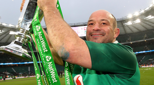 Big lift: Ulster and Ireland skipper Rory Best, who yesterday announced his proposed retirement, has won many honours in the game including the Six Nations Grand Slam in 2018