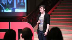Lyra McKee gives talk at TEDxStormont Women 2017 in the Great Hall, Parliament Buildings in 2nd November 2017.Photo by Kelvin Boyes / Press Eye.