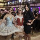 Choreographer Melanie Hamrick poses with dancers at the gala of Youth America Grand Prix, the world's largest ballet scholarship competition, after the US premiere of her new ballet Porte Rouge (Red Door), based on classic Rolling Stones tunes arranged by her partner, Mick Jagger (Jocelyn Noveck/AP)