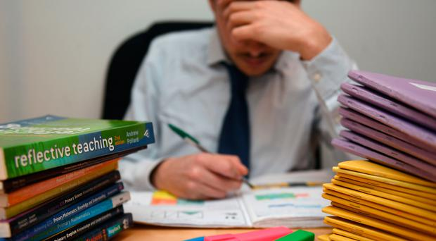 'The poll by teaching union the NASUWT, ahead of its annual conference in Belfast this weekend, also found 86% of teachers have been sworn at, and 42% verbally threatened' (stock photo)
