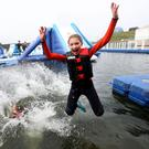 Grace McMurrough from Belfast Kayaking Academy tests out Let's Go Hydro, Ireland's largest water sport, activity and accommodation resort