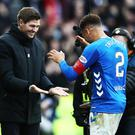 Positive signs: Steven Gerrard and Rangers captain James Tavernier