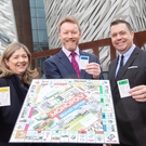 Julie Galbraith, retail food and hospitality, DWF Belfast; Ken Rutherford, DWF Belfast; and Glyn Roberts, Retail NI