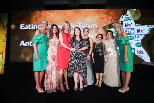 Winners of the Spirit of Health award, the Eating Disorder Team from CAMHS at Antrim Area Hospital. Photo by Kelvin Boyes / Press Eye
