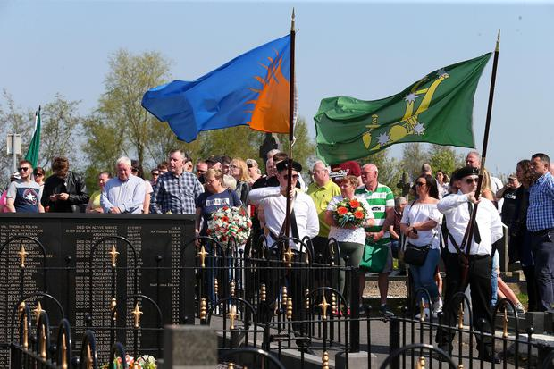 Saoradh hold their annual Easter commemoration in Milltown Cemetery, west Belfast Picture: Pacemaker Belfast
