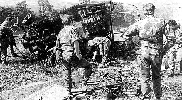 The devastating scene at Narrow Water Castle where 18 soldiers were killed in 1979