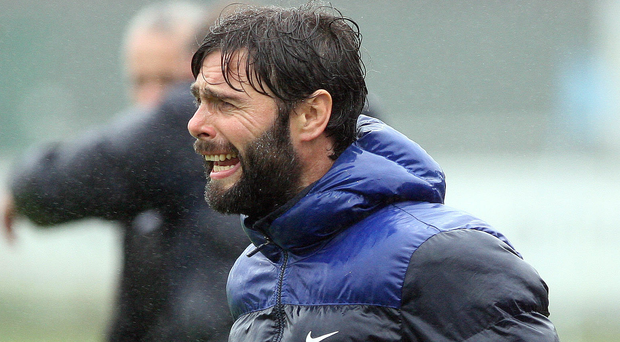 European push: Gary Hamilton's Glenavon can close the gap on Ballymena with victory tonight