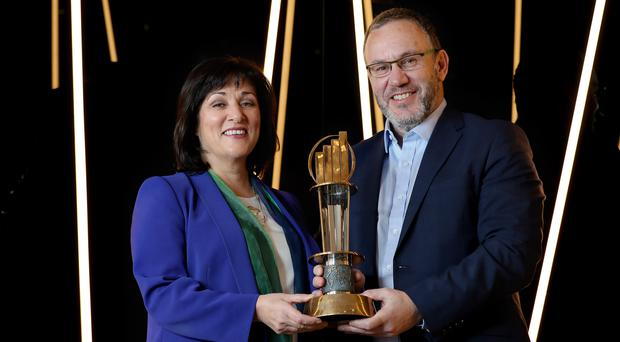 Announcing the 2019 EY Entrepreneur Of The Year shortlist are Anne Heraty, of CPL Resources and the head of the judging panel, and Kevin McLoughlin, EY