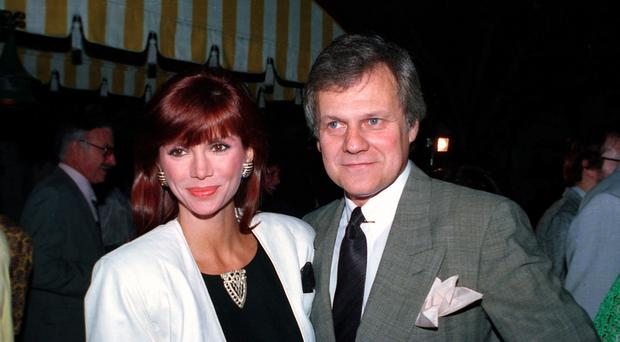 Ken Kercheval with his Dallas co-star Victoria Principal (AP Photo/Craig Mathew, File)