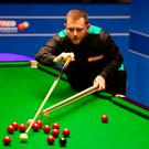 No joy: Mark Allen at the table but he was unable to complete a remarkable revival