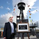 Jamie Wilson, General Manager of HMS Caroline at the announcement in Belfast. Credit: Kelvin Boyes / Press Eye