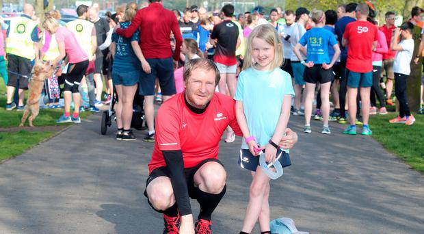 Niamh Lemon with her father Stephen